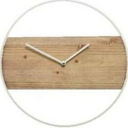 White Wood Clock