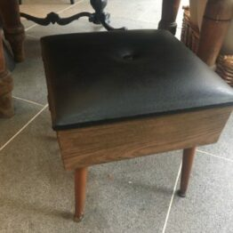 1960s Stool Sewing Box
