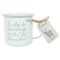 I Only do Mornings on 25th December Enamel Mug