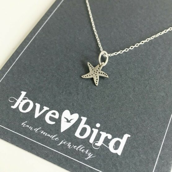 Lovebird Jewellery Silver Starfish Necklace