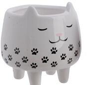 Black White Cat Plant Pot