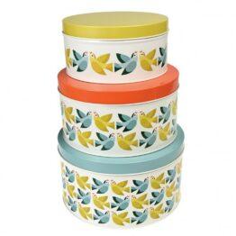 Rex London Lovebirds Set of 3 Nesting Cake Tins