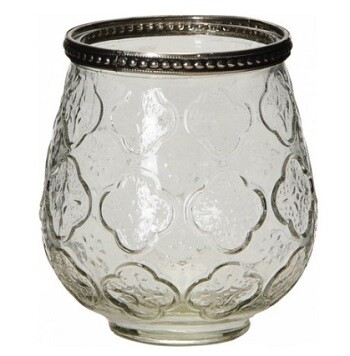 Antique Glass Candle Holder