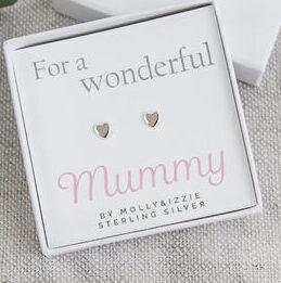 Sterling Silver Mummy Earrings