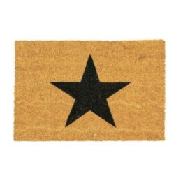 Black Star Coir Door Mat