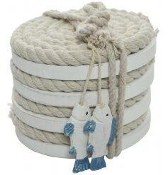 Fish Beach Rope Coasters