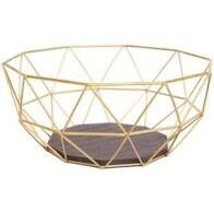 Gold Wire Fruit Basket