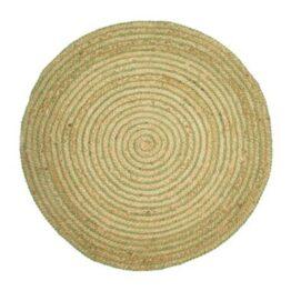 Green Spiral Jute Rug