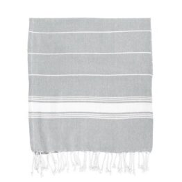 Grey Stripe Hammam Towel