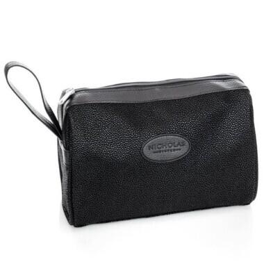 Men's Black Wash Bag