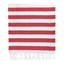 Red Stripe Hammam Towel