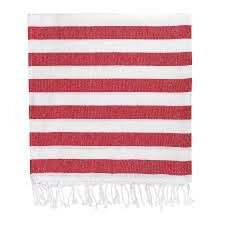 Red Stripe Hammam Towel