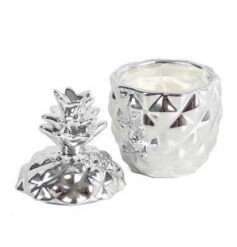 Silver Pineapple Candle