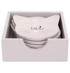 Set of 6 Cat Coasters