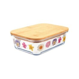 Pressed Flowers Glass Storage Box