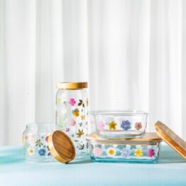 Pressed Flowers Large Storage Jars