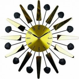 Gold Mirrored Mid Century Style Clock