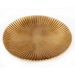 Large Gold Wood Sunburst Dish