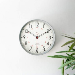 Retro Metal Wall Clock Grey