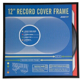 Black Record Sleeve Display Frame