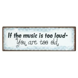 Music is too loud sign