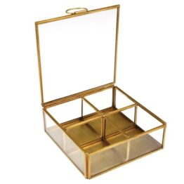 Gold Metal Jewellery Box