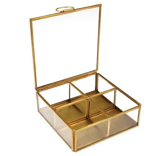 Gold Metal Jewellery Box