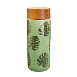 Ceramic Drinks Bottle Leaf Design
