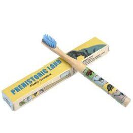 Kids Bamboo Toothbrush Dinosaur