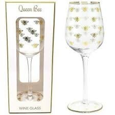 Gift Boxed Gold Bee Wine Glass