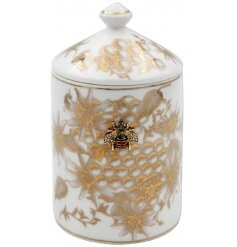 Honeycomb Bee Ceramic Candle