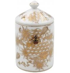 Honeycomb Bee Ceramic Candle