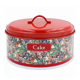 Red Golden Lily Cake Tin