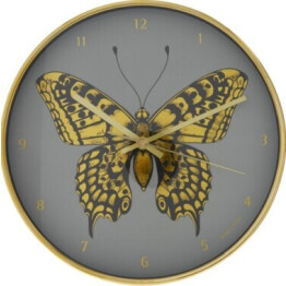 Jones Gold Butterfly Clock