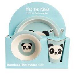 Miko Panda Bamboo Dinner Set