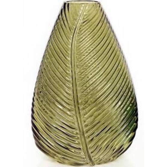 Mustard Leaf Glass Vase