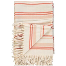 Penedo Coral White Striped Throw