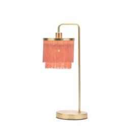 Pink Fringe Table Lamp