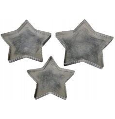 Set of 3 mini star trays