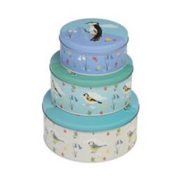 Garden Birds Cake Tin Set