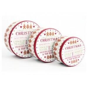 Set of Christmas Gingerbread Tins