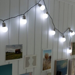 String of White Bulb Lights