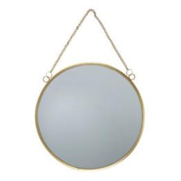 Touch of Gold Round Mirror