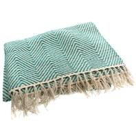Cotton Rug Throw Teal