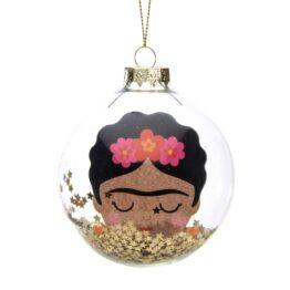 Frida Kahlo Glass Bauble