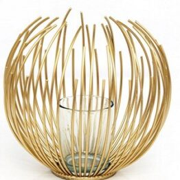 Art Deco Gold Candle Holder