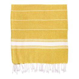 Mustard Stripe Hamman Towel