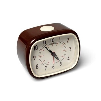 Brown Retro Alarm Clock