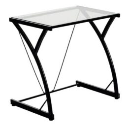 Black Glass Topped Desk