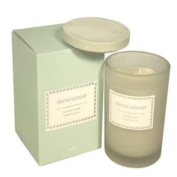 Boxed Glass Candle Jar with Lid Eternal Summer